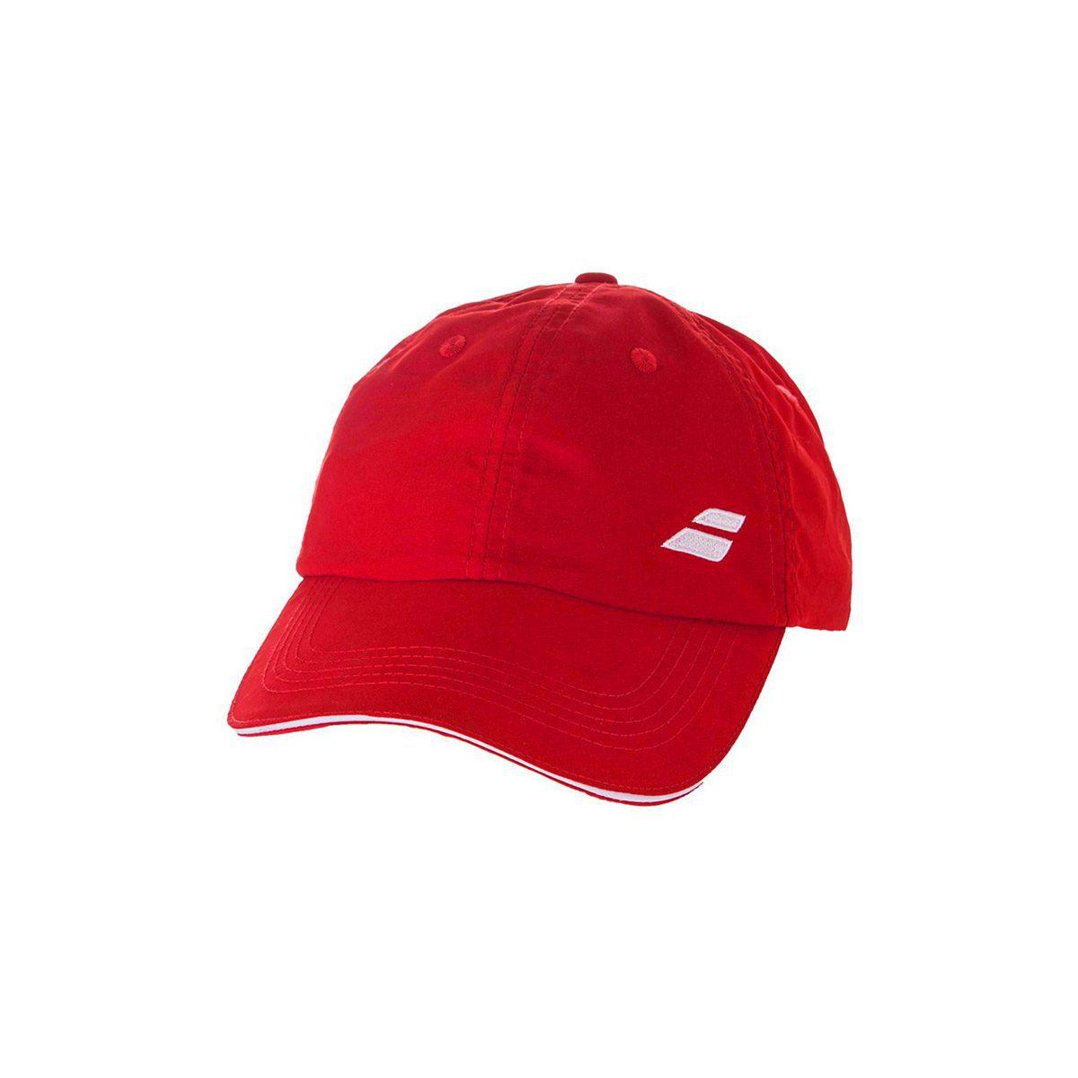 Babolat Basic Logo Men s Cap - Red - Peake Performance Sports e5296914dace
